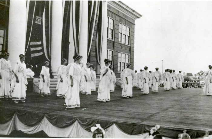 Young Women Performing During Fair and Tourist Week